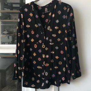 Peasant print blouse, S